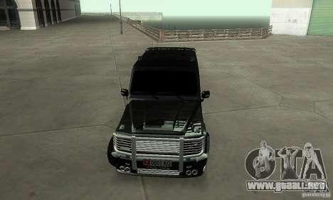 Mercedes Benz G500 ART FBI para GTA San Andreas vista hacia atrás