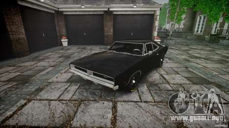 Dodge Charger RT 1969 para GTA 4 vista lateral