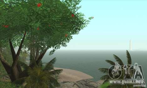 Isla tropical para GTA San Andreas