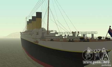 RMS Titanic para GTA San Andreas left