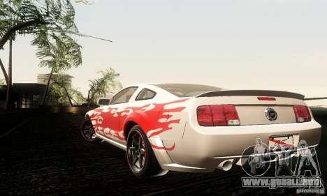 Ford Mustang GT Tunable para GTA San Andreas vista hacia atrás
