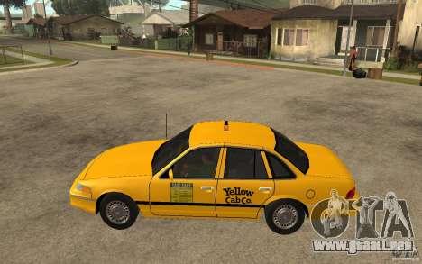 Ford Crown Victoria Taxi 1992 para GTA San Andreas left