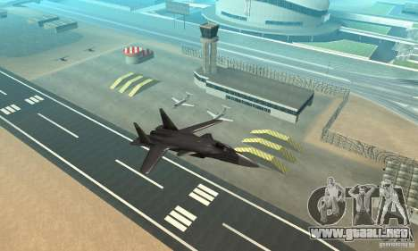 Su-47 berkut aprobar para la visión correcta GTA San Andreas