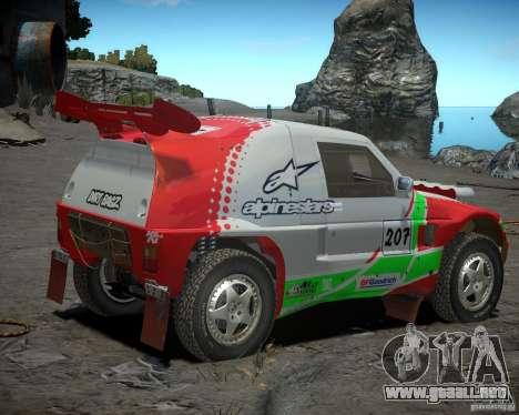 Mitsubishi Pajero Proto Dakar EK86 vinilo 2 para GTA 4 Vista posterior izquierda