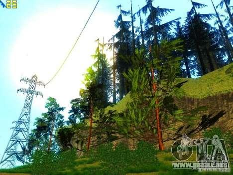 Vegetación perfecta v. 2 para GTA San Andreas octavo de pantalla
