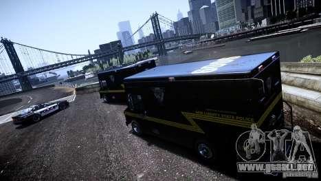 Boxville Police para GTA 4 Vista posterior izquierda