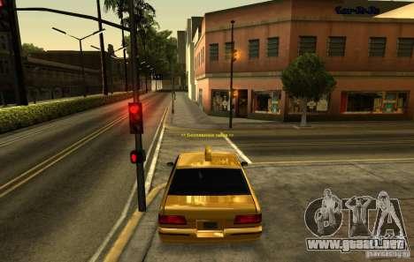 ENB SA: MP para ordenadores portátiles de tamaño para GTA San Andreas tercera pantalla