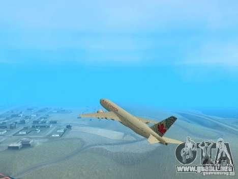 Boeing 767-300 Air Canada para la visión correcta GTA San Andreas
