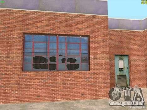 Nuevo garaje en Doherty para GTA San Andreas sucesivamente de pantalla