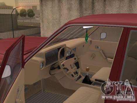 Toyota Cressida para visión interna GTA San Andreas