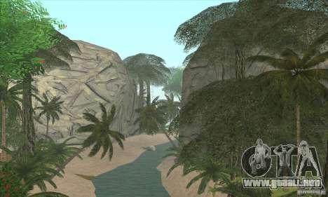 Isla tropical para GTA San Andreas segunda pantalla