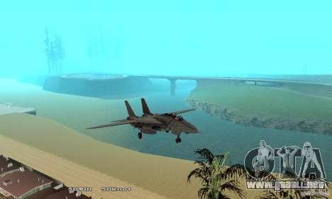 F14W Super Weirdest Tomcat Skin 1 para vista lateral GTA San Andreas