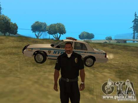 Ford Crown Victoria NYPD Police para la vista superior GTA San Andreas