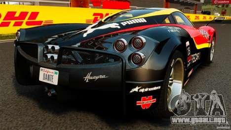 Pagani Huayra 2011 [EPM] para GTA 4 Vista posterior izquierda