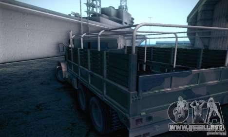 Barracks HD para GTA San Andreas vista posterior izquierda
