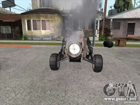 Turbo car v.2.0 para GTA San Andreas vista hacia atrás