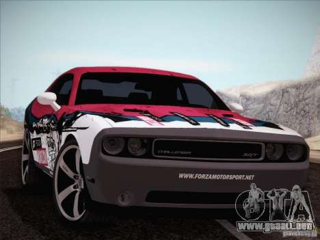 Dodge Challenger SRT8 2010 para la vista superior GTA San Andreas