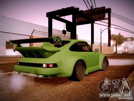 Porsche 911 Turbo RWB Pandora One para la visión correcta GTA San Andreas