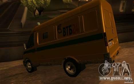 Servicios de transporte gacela 2705 para la vista superior GTA San Andreas