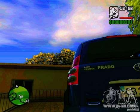 Toyota Land Cruiser Prado 120 para GTA San Andreas vista posterior izquierda