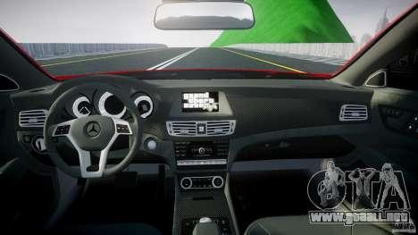 Mercedes-Benz CLS 63 AMG 2012 para GTA 4 visión correcta