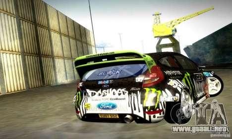 Ford Fiesta Gymkhana 4 para GTA San Andreas vista hacia atrás