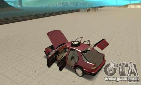 Saab 9000 para visión interna GTA San Andreas