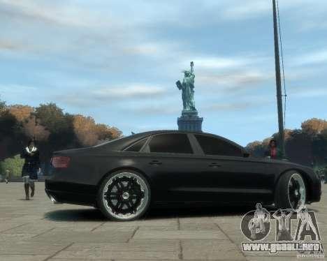 Audi A8 tuning para GTA 4 Vista posterior izquierda