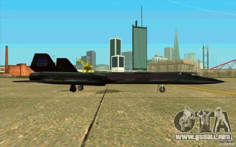SR-71A BLACKBIRD BETA para GTA San Andreas vista hacia atrás