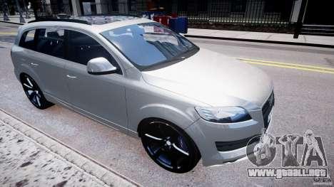 Audi Q7 LED Edit 2009 para GTA 4 Vista posterior izquierda