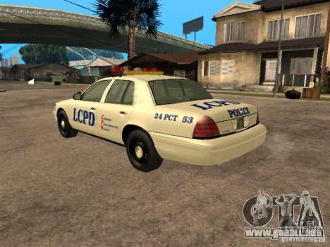 Ford Crown Victoria 2003 Police para GTA San Andreas left