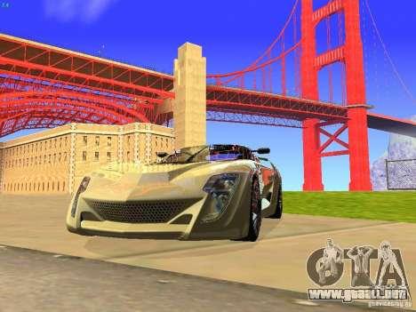 Bertone Mantide para GTA San Andreas vista hacia atrás