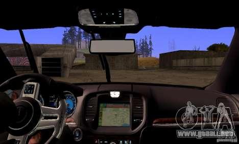 Chrysler 300c para la vista superior GTA San Andreas