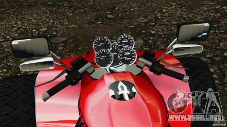 ATV PCJ Sport para GTA 4 vista hacia atrás
