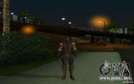 Scorpion v2.2 MK 9 para GTA San Andreas segunda pantalla