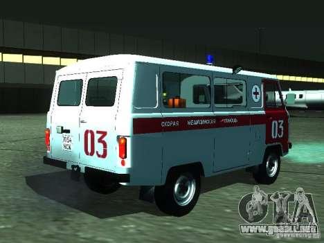 3962 UAZ ambulancia para la visión correcta GTA San Andreas