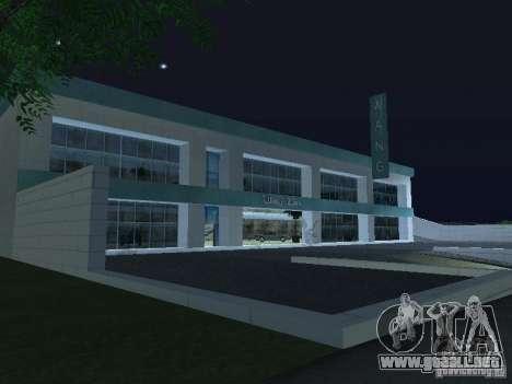 Nuevo salón del automóvil Wang Cars para GTA San Andreas segunda pantalla