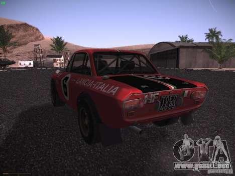 Lancia Fulvia Rally para GTA San Andreas left