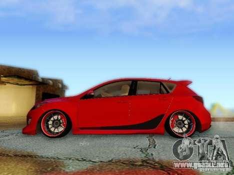 Mazda Speed 3 2010 para GTA San Andreas vista posterior izquierda