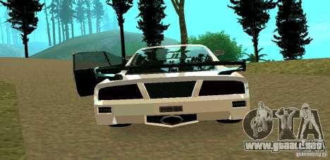 New Turismo para GTA San Andreas vista hacia atrás