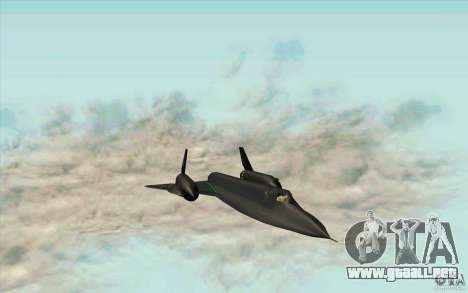 SR-71A BLACKBIRD BETA para GTA San Andreas
