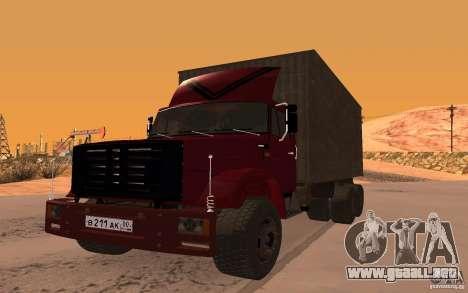 ZIL 6309 para la visión correcta GTA San Andreas