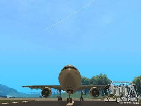 Airbus A300-600 Air France para visión interna GTA San Andreas