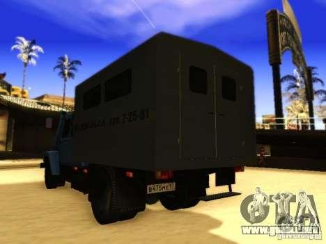 GAZ 3309 doble fila para visión interna GTA San Andreas
