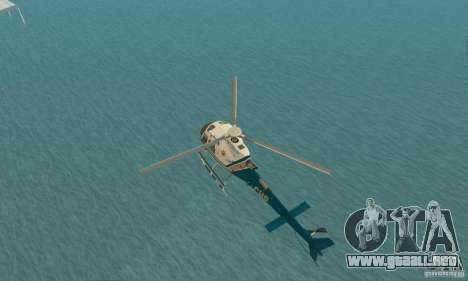 AS350 Ecureuil para GTA San Andreas vista hacia atrás