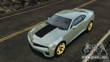 Chevrolet Camaro ZL1 2012 v1.2 para GTA motor 4
