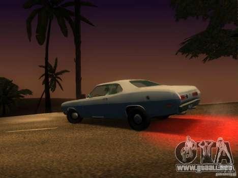 Plymouth Duster 1972 para GTA San Andreas vista hacia atrás