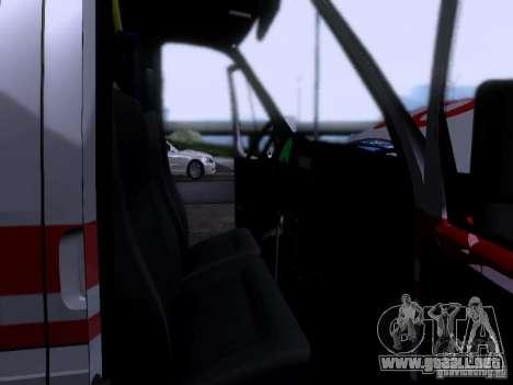 Ambulancia gacela 2705 para vista lateral GTA San Andreas