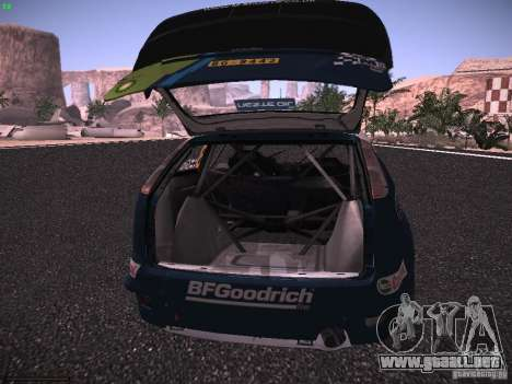 Ford Focus RS WRC 2006 para la vista superior GTA San Andreas