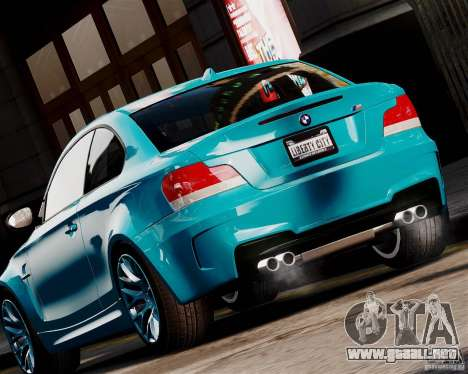 BMW M1 2011 v1.0 para GTA 4 Vista posterior izquierda